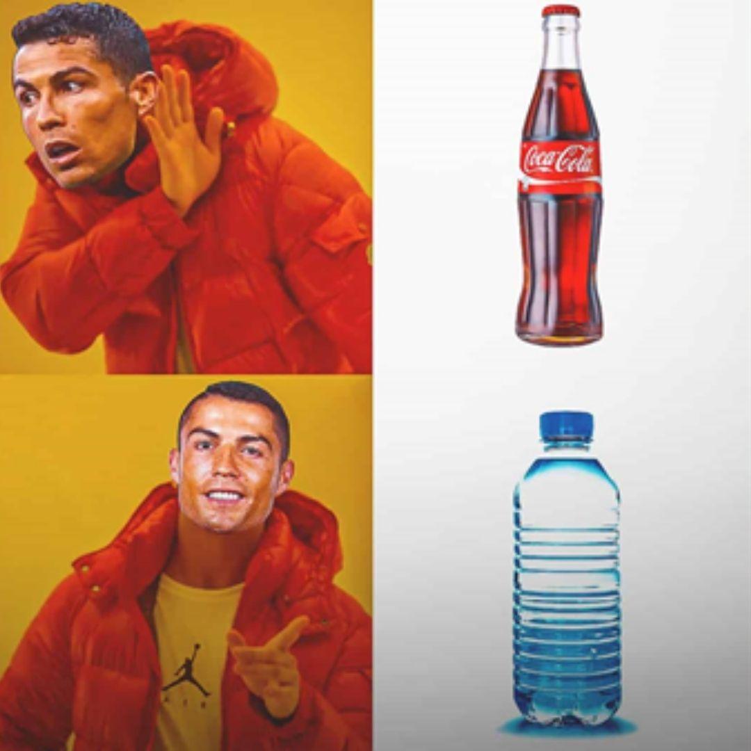 Cristiano Ronaldo Coca-Cola water meme