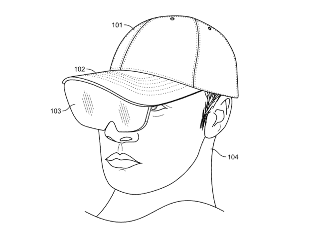 the patented AR hat by Facebook
