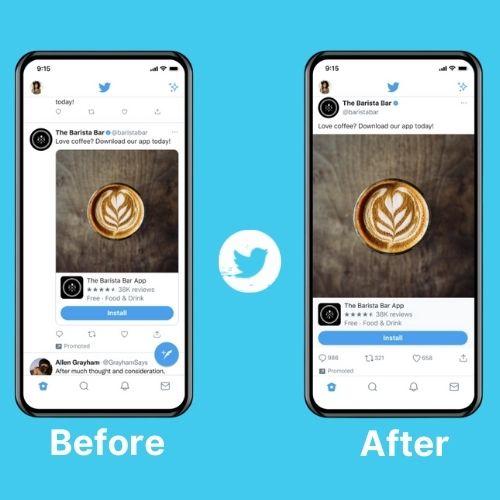 Twitter testeing edge to edge tweets on iOS