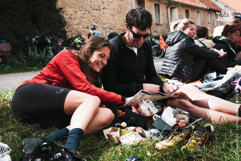 bikepacking, mad jacques vélo, pause déjeuner, terroir, oise