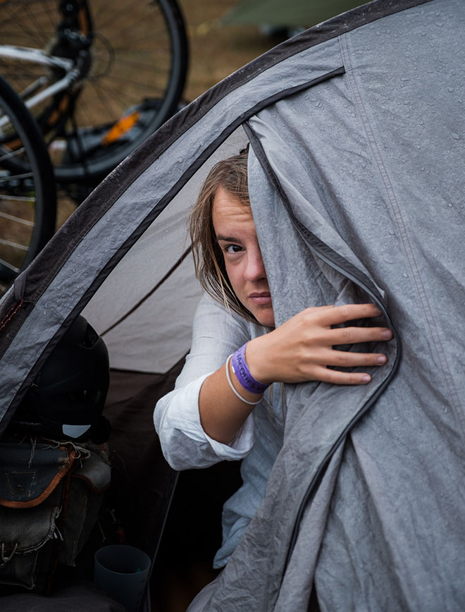 morvan - vélo - bivouac sortie de tente