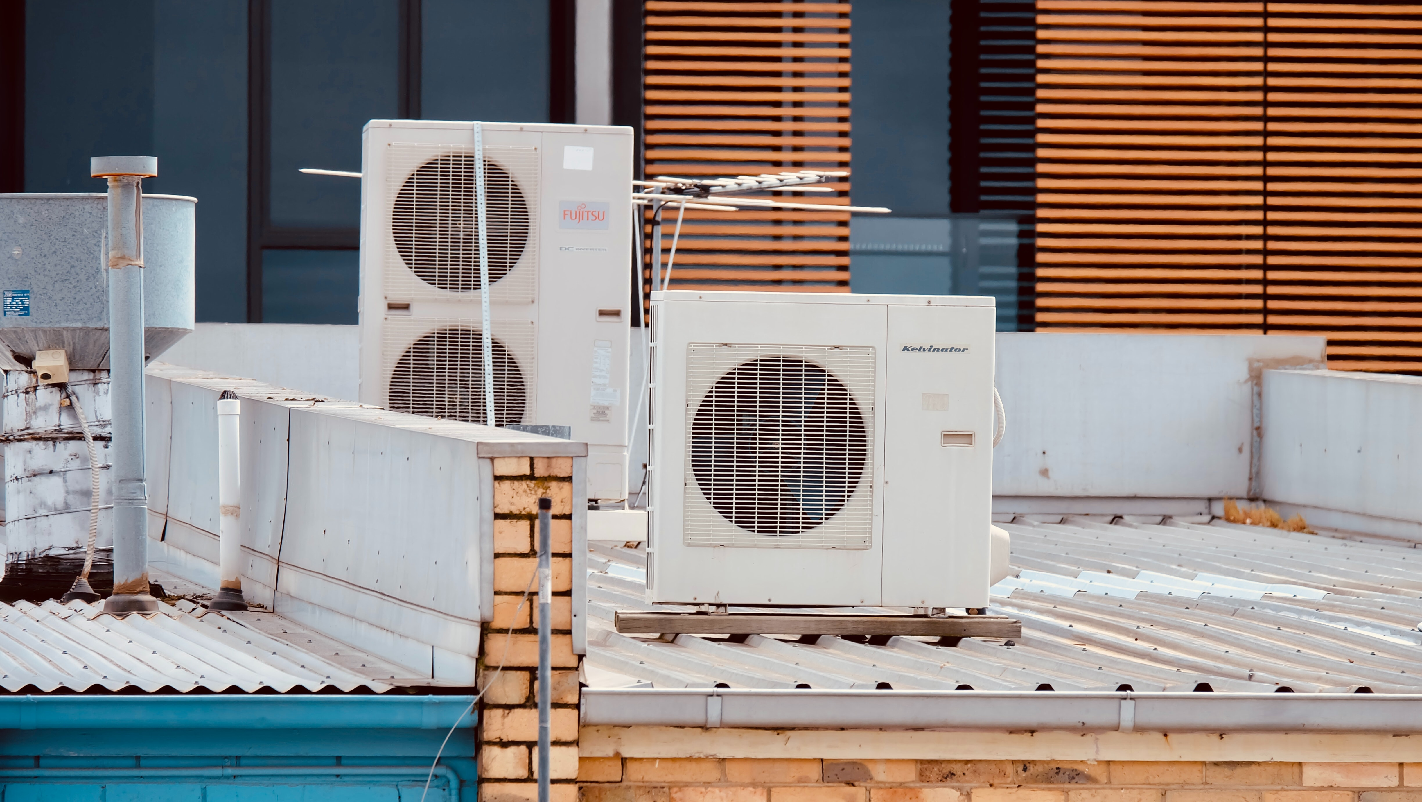 air conditioner on roof