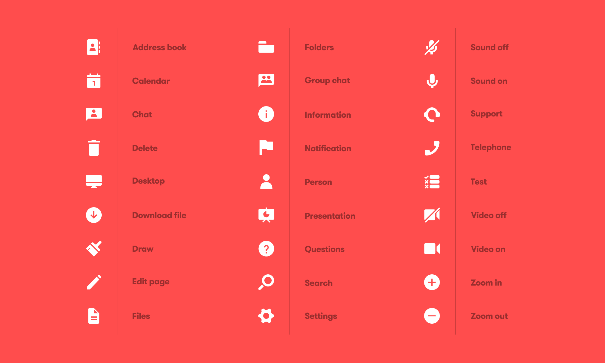 A look at all of the icons.