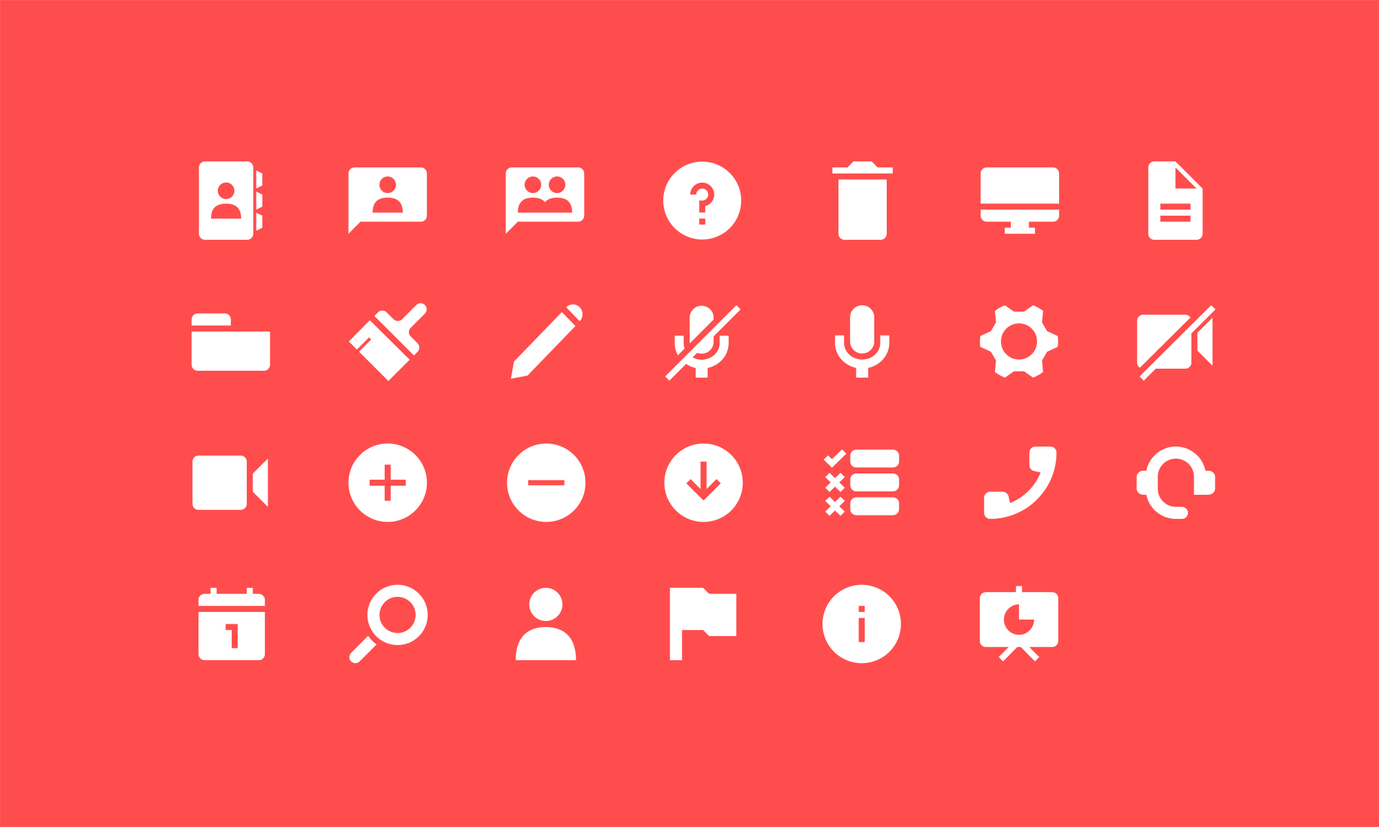 All of the Webinar icons