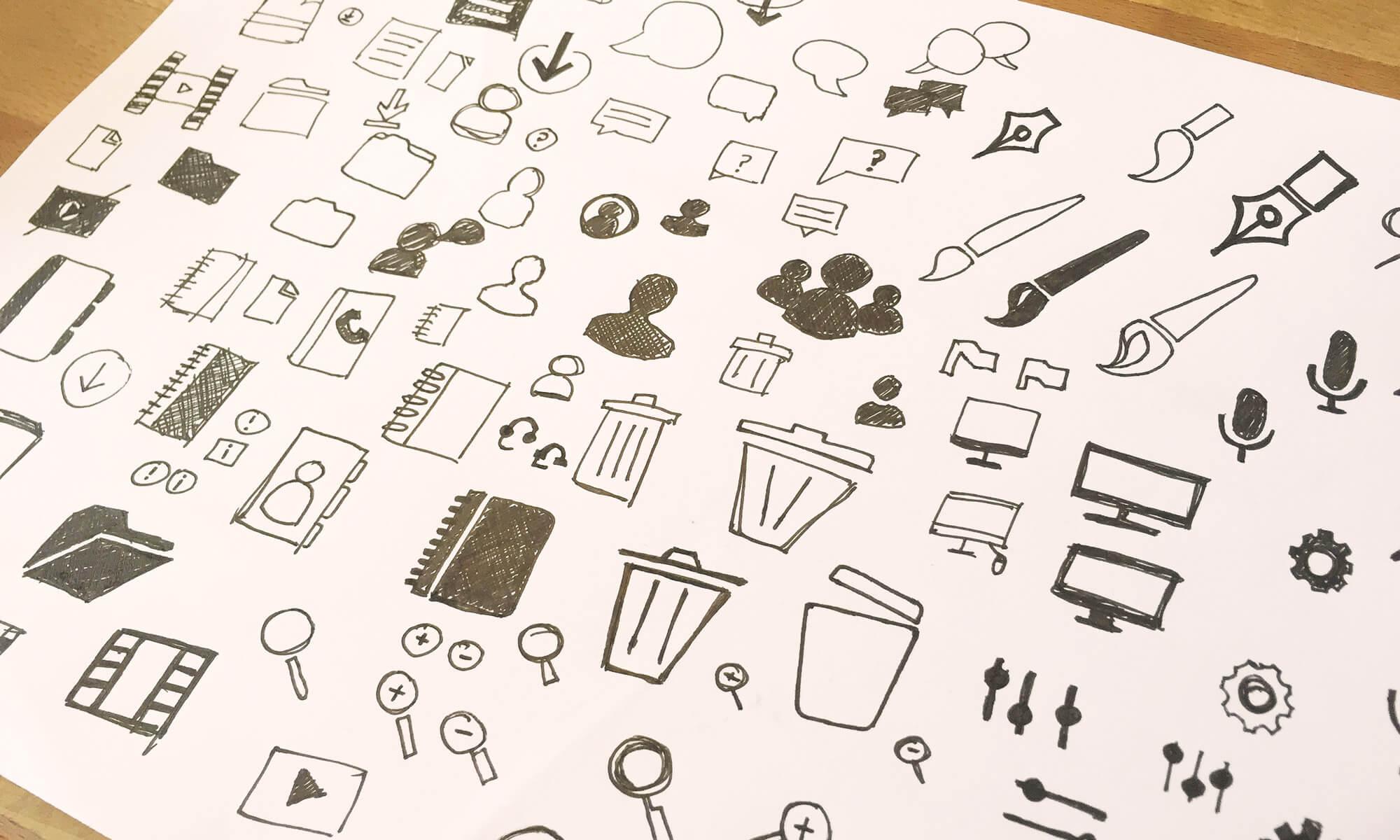 Rough exploration around the icon metaphors.