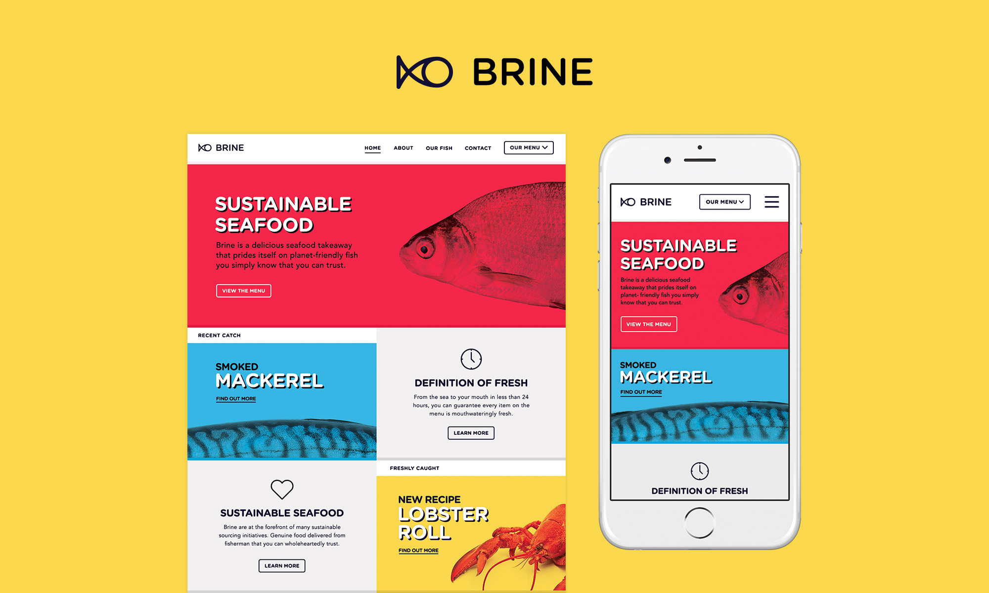 A look at the Brine website and logo.