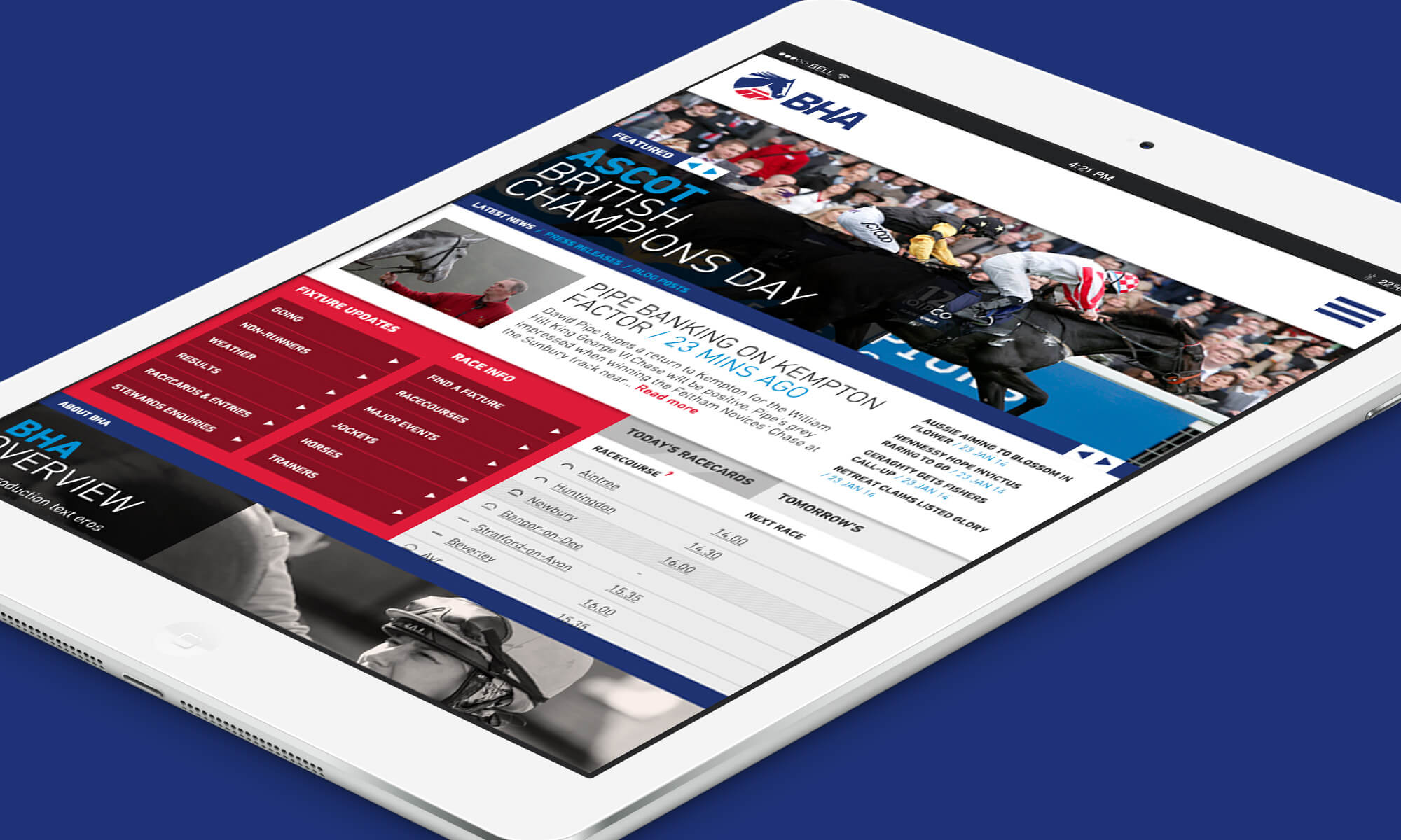 A look at the BHA's new website