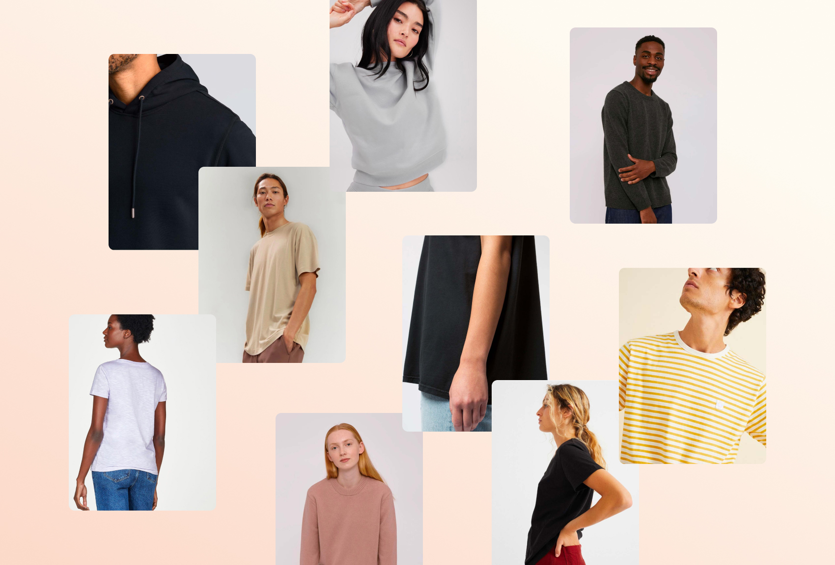 A selection of sustainable clothes on Good Garms