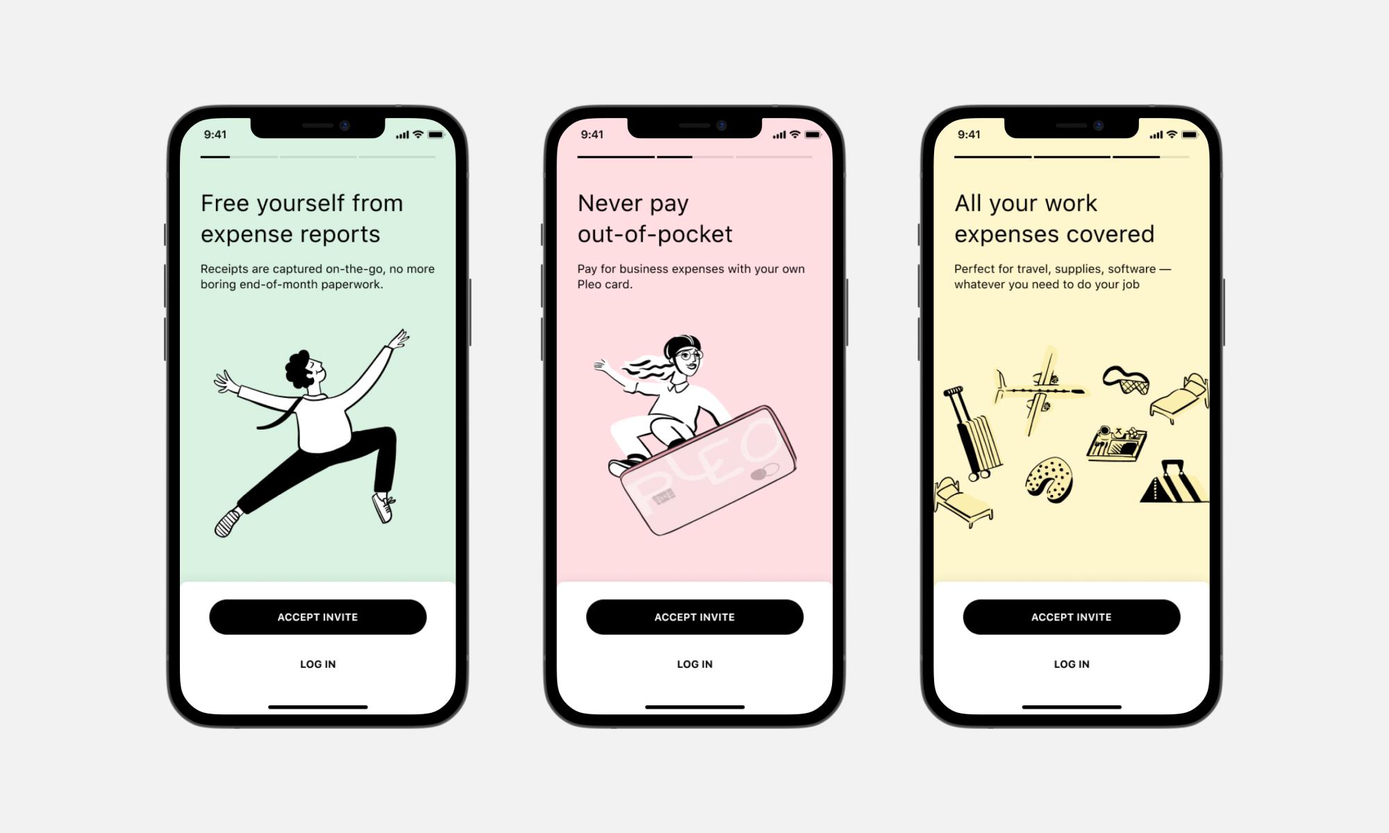 App introduction screens