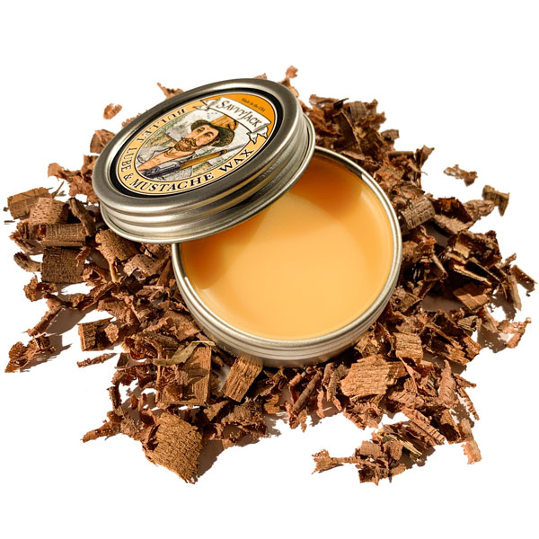 SavvyJack mustache wax 1 oz tin