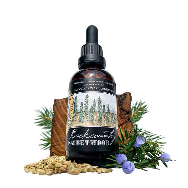 SavvyJack Sweetwood Beard Oil - side