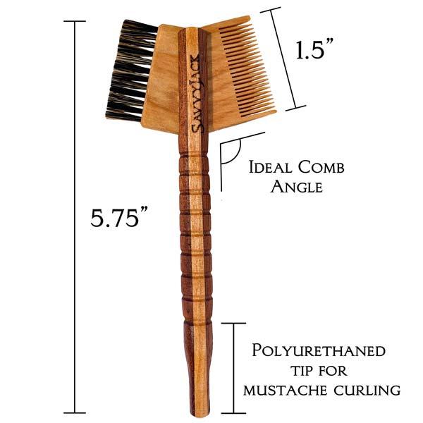 SavvyJack Mustache Tomahawk - Sapele and Maple - measurements