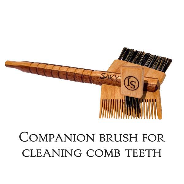 SavvyJack Mustache Tomahawk - Sapele and Maple - companion comb