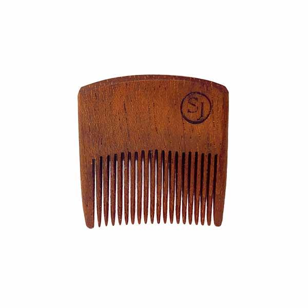 Mustache Pocket Pick Comb - dark Ipe front