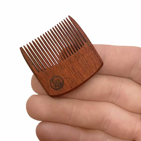 Mustache Pocket Pick Comb - dark Ipe