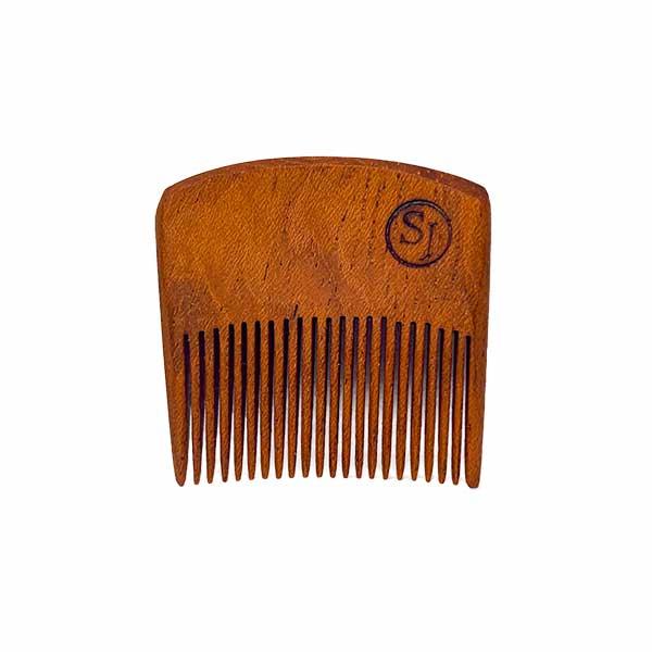 Mustache Pocket Pick Comb - light Ipe front