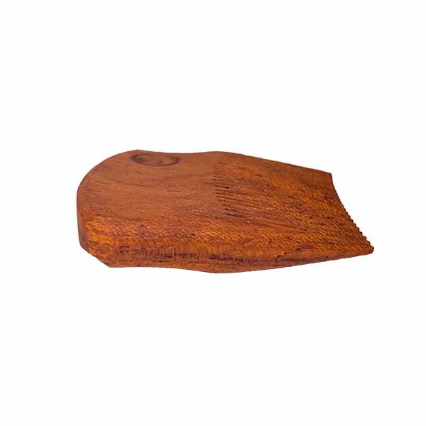 Mustache Pocket Pick Comb - light Ipe side view