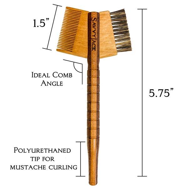 Walnut and Cherry Mustache Tomahawk - measurements