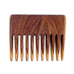 Savvy Jack wooden beard comb. Handcrafted in the USA.