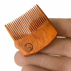 Savvy Jack pocket pick mustache comb. Handcrafted in the USA.