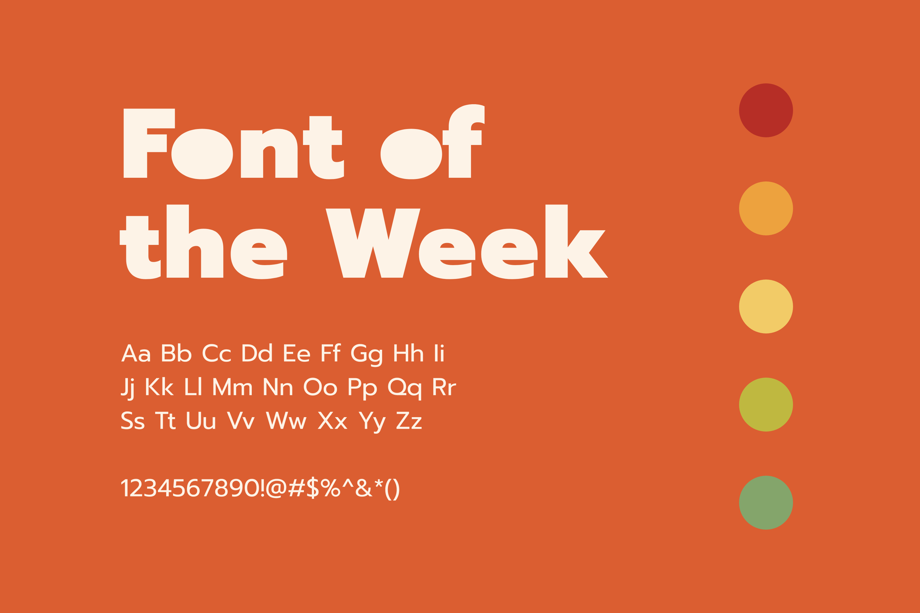 Font of the Week