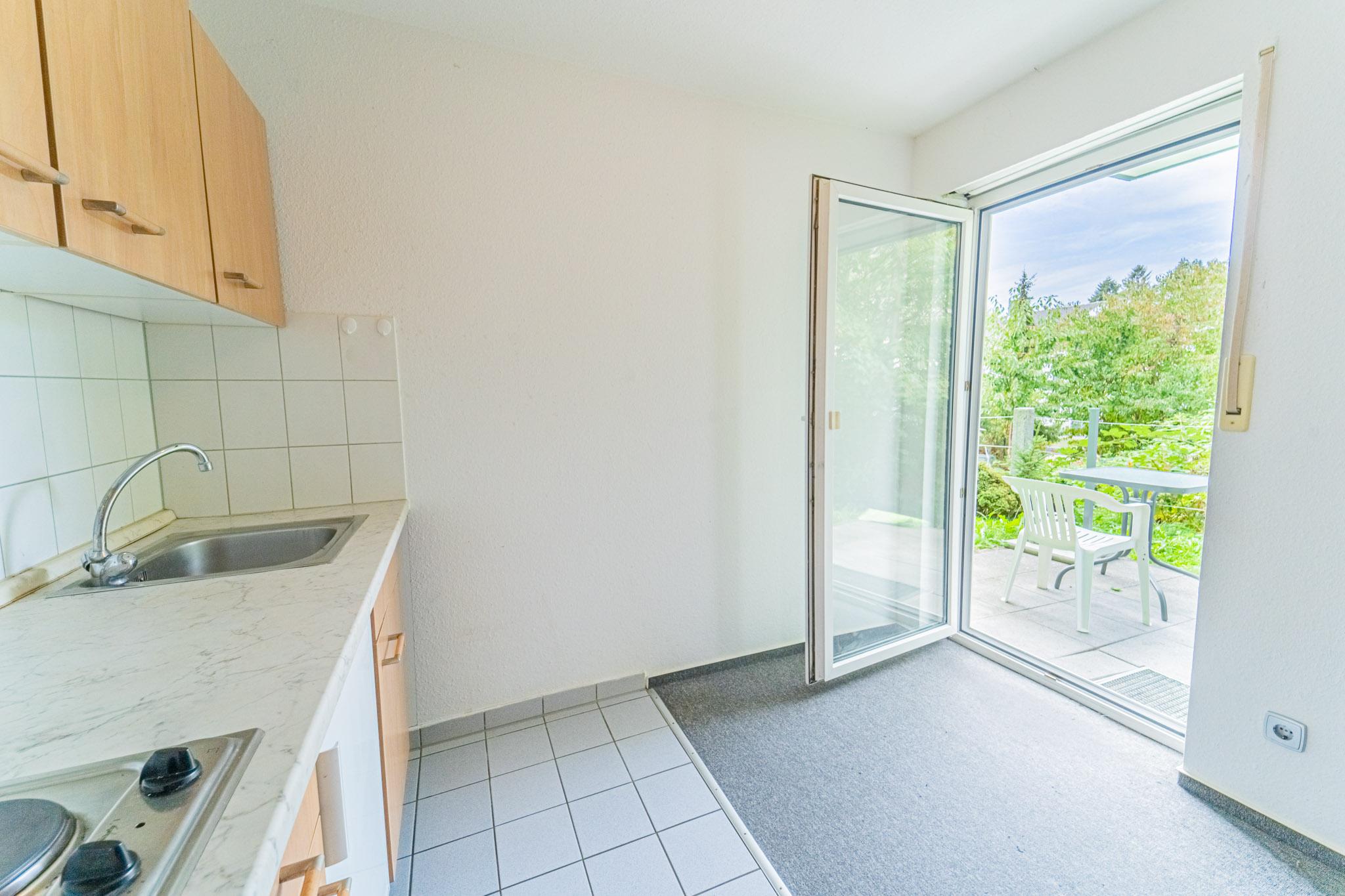 Gemütliche 1-Zimmer Erdgeschoss-Wohnung mit Terrasse und Tiefgarage in begehrter Lage von Kandern