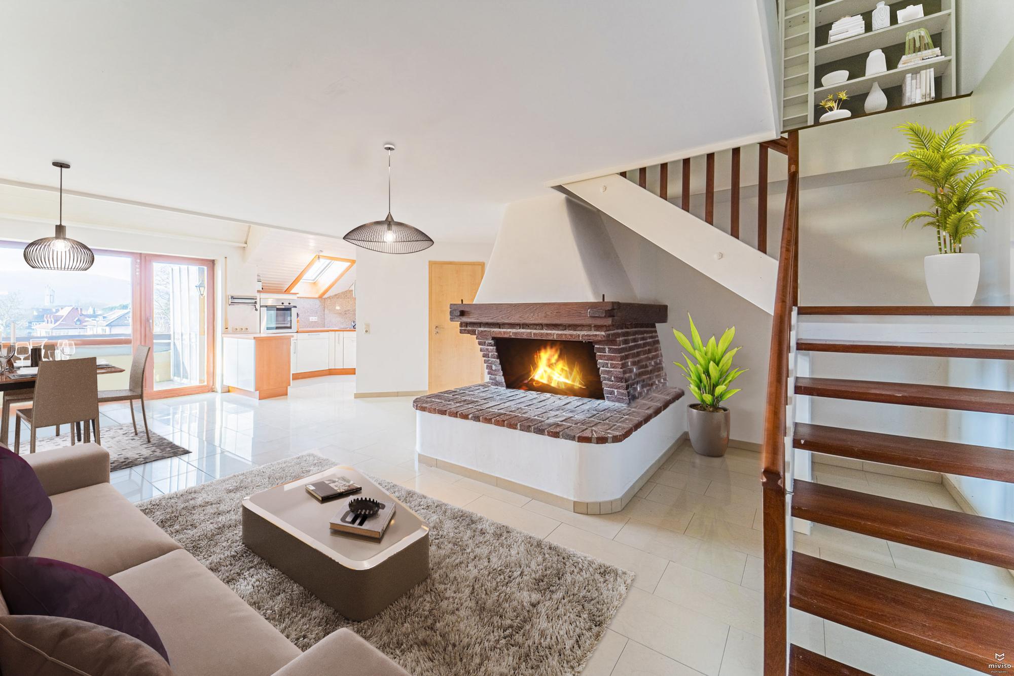 Großzügige Maisonette-Wohnung m. Balkon,EBK,Cheminée und zwei Stellplätzen zentral in Bad Säckingen