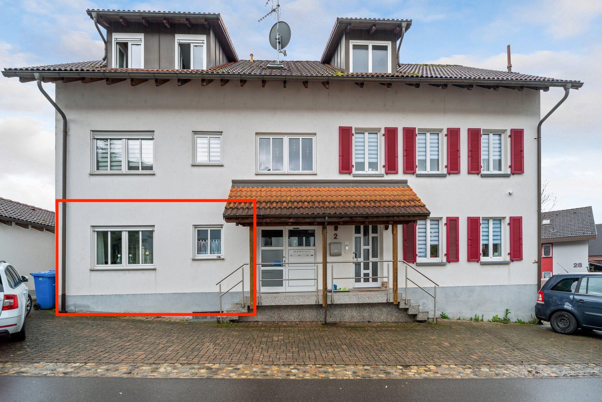Toplage! Schöne 2,5 Zi. Erdgeschosswohnung m. EBK und Stellplatz im Dorfkern Rheinfelden-Nollingen