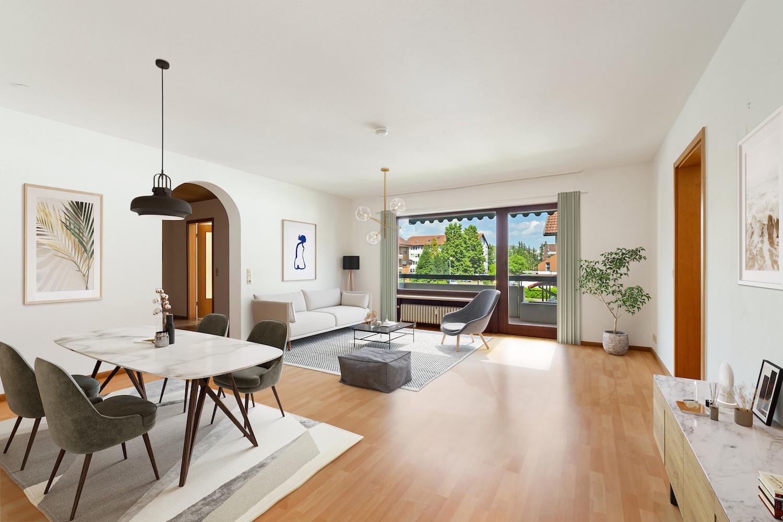 Großzügige 2-Zimmer Eigentumswohnung m. Loggia und Garage in gepflegter Wohnanlage grenznah in Rheinfelden-Warmbach