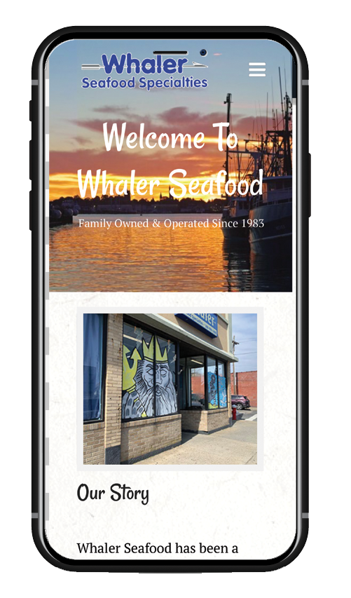 mobile website view whaler seafood specialties