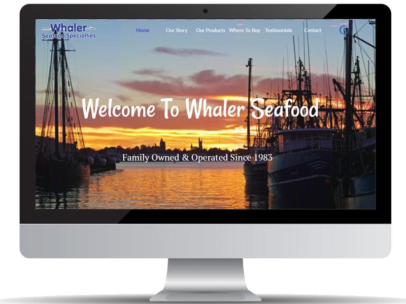 Web Design Whaler Seafood Specialties