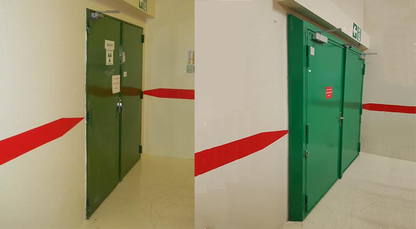 Porte Volcan avant et après renovation - Framatome