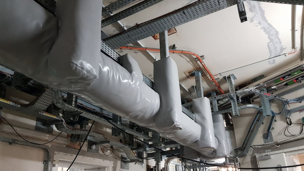Enrubannage Baumert pour la protection fonctionnelle de chemin de câbles