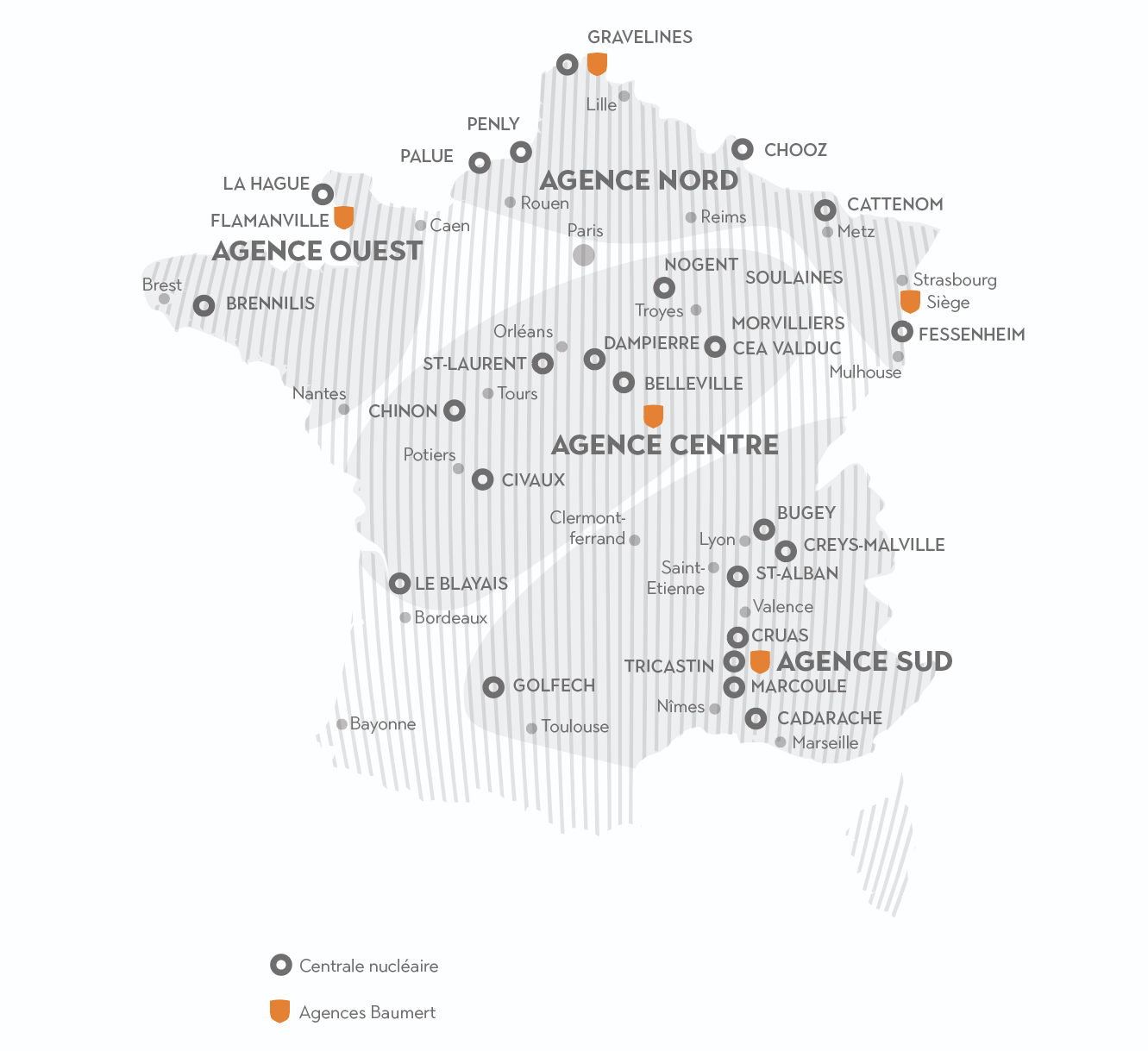 4 agences Baumert en France assurent la pose, la maintenance et les services de proximité