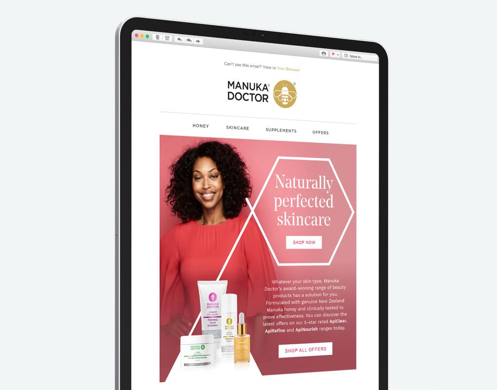 Manuka Doctor Tablet Screen