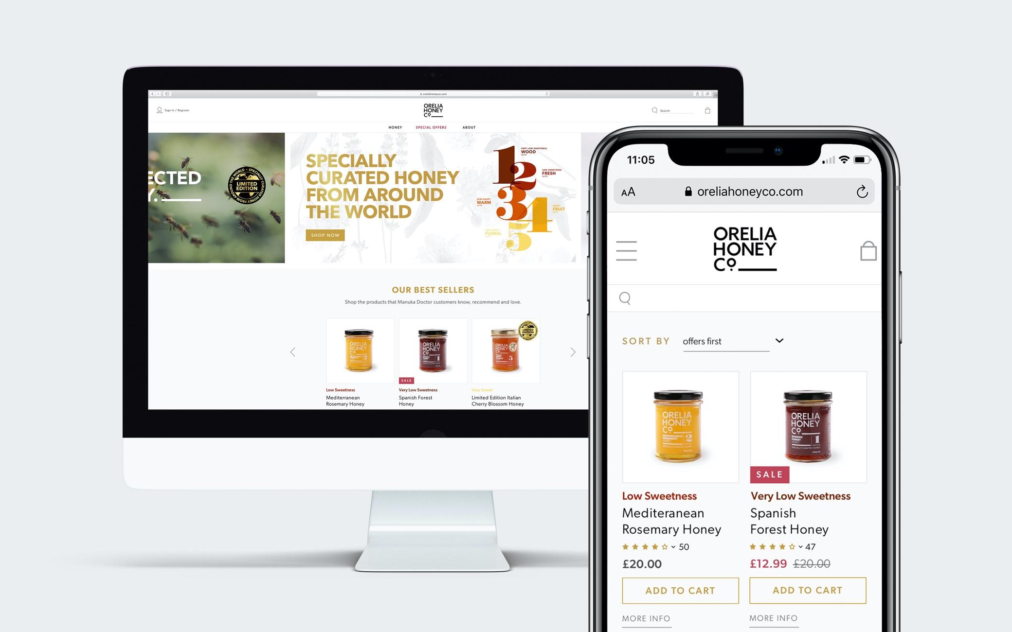 Orelia Honey digital design