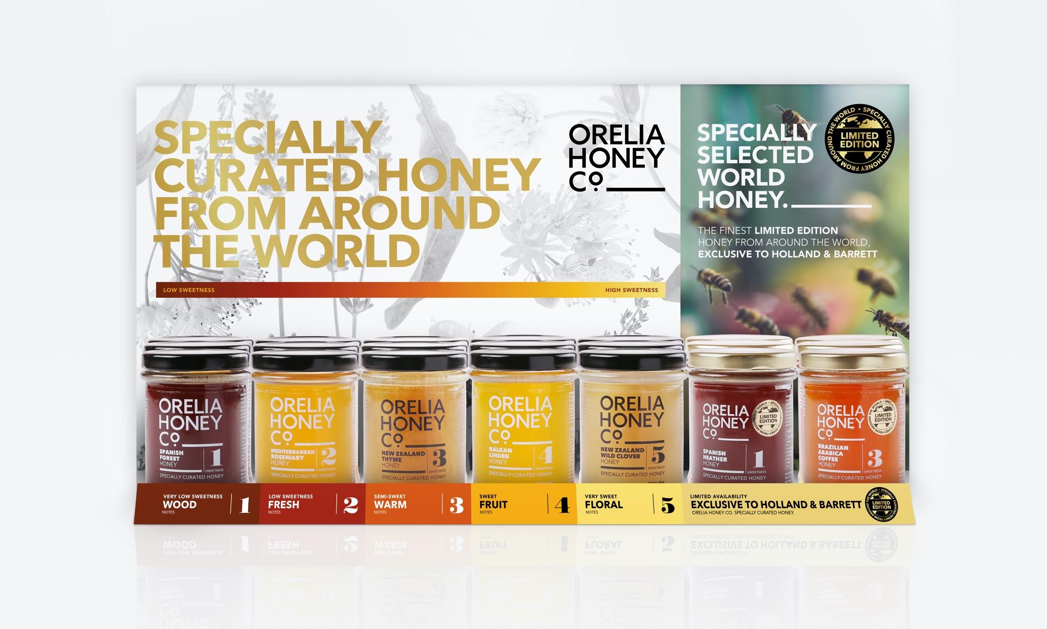 Orelia Honey Range POS