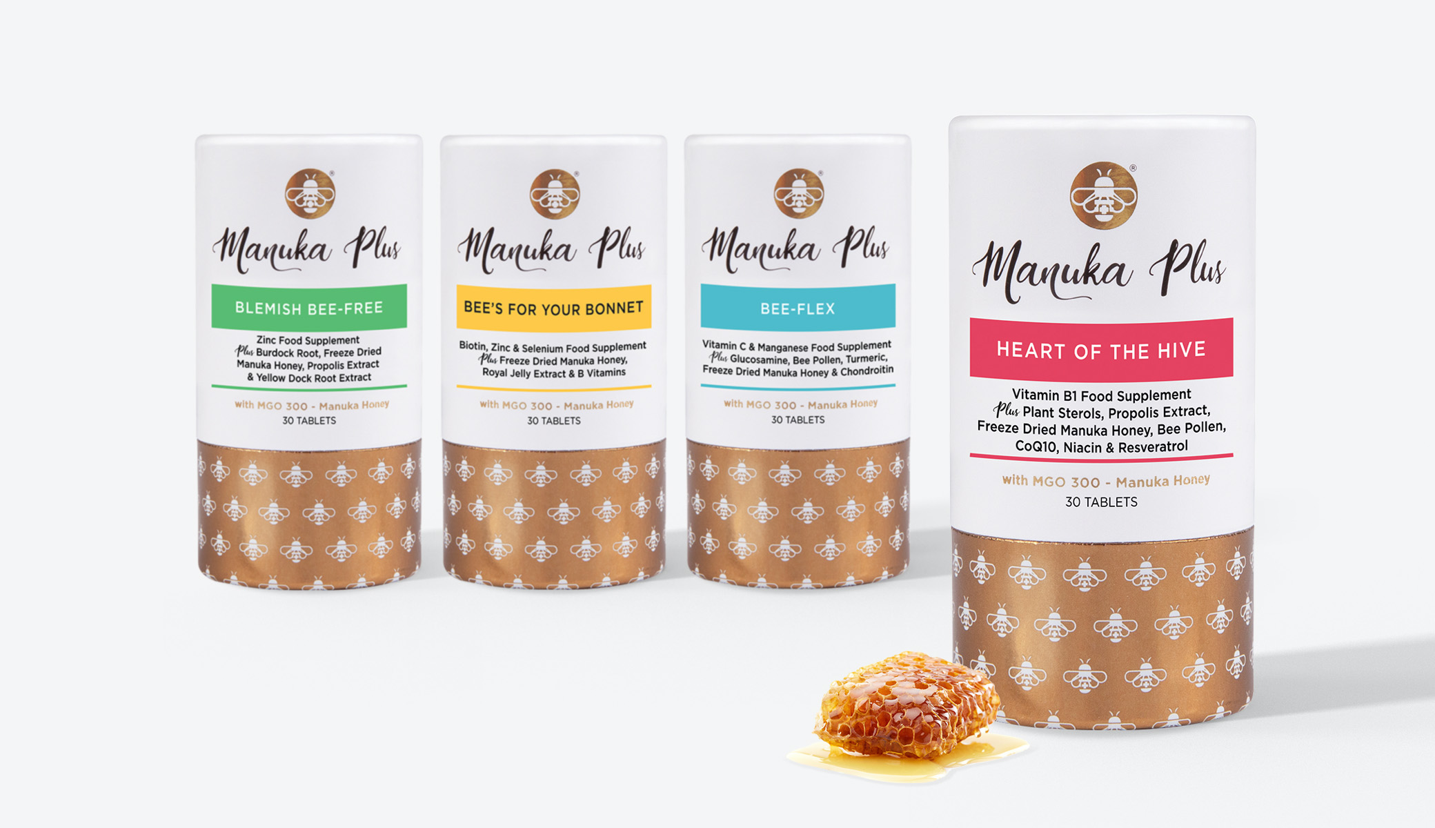 Manuka Plus packaging