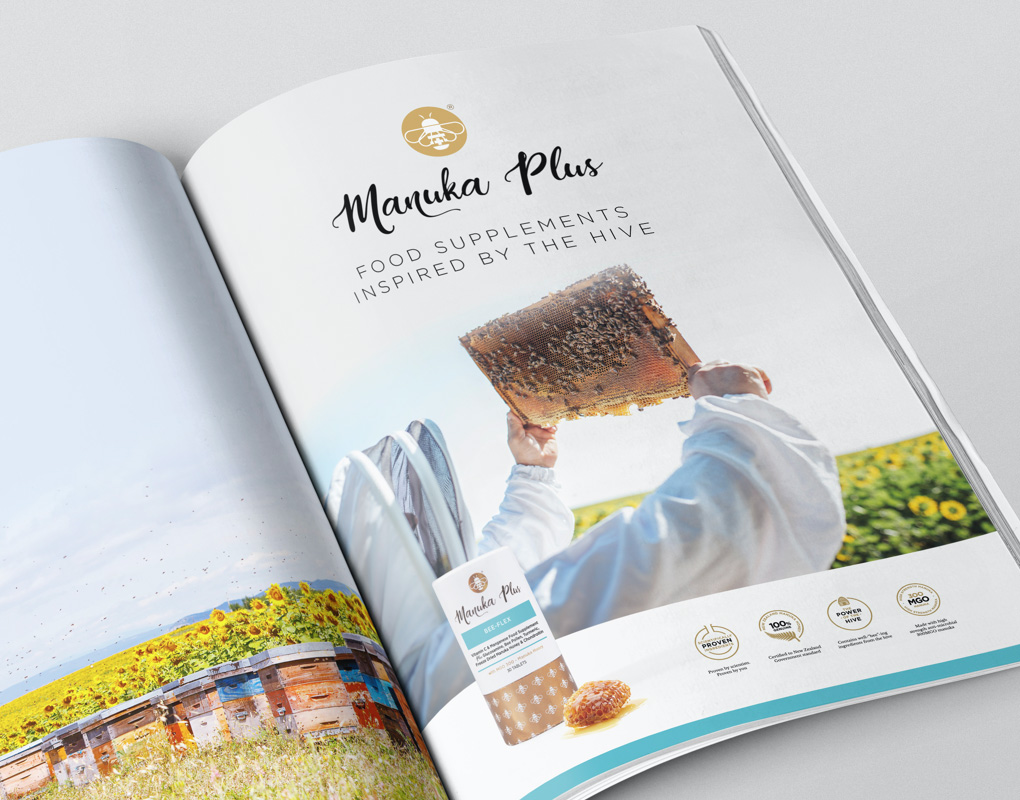 Manuka Plus advertising