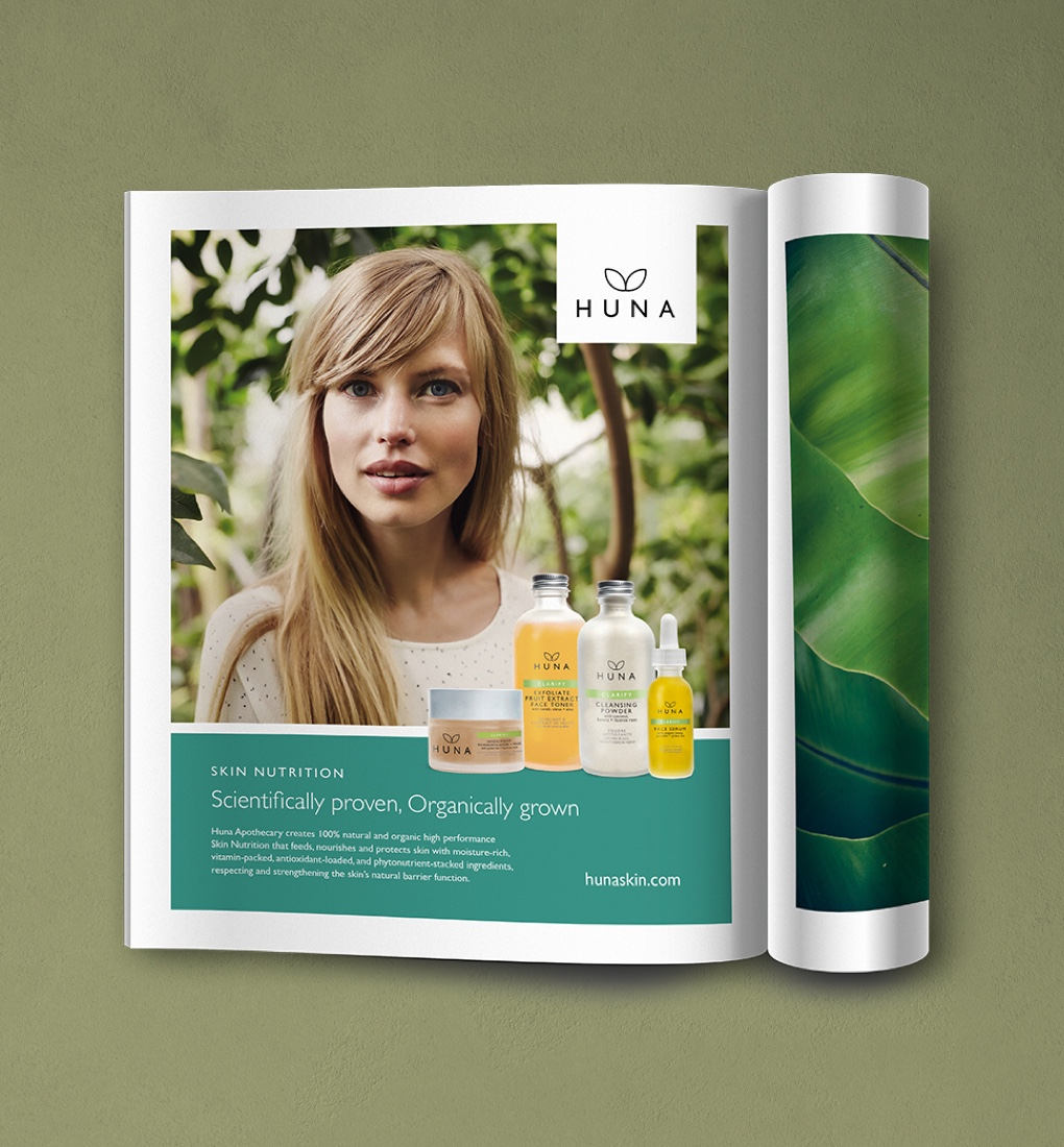 Huna Skin advertising