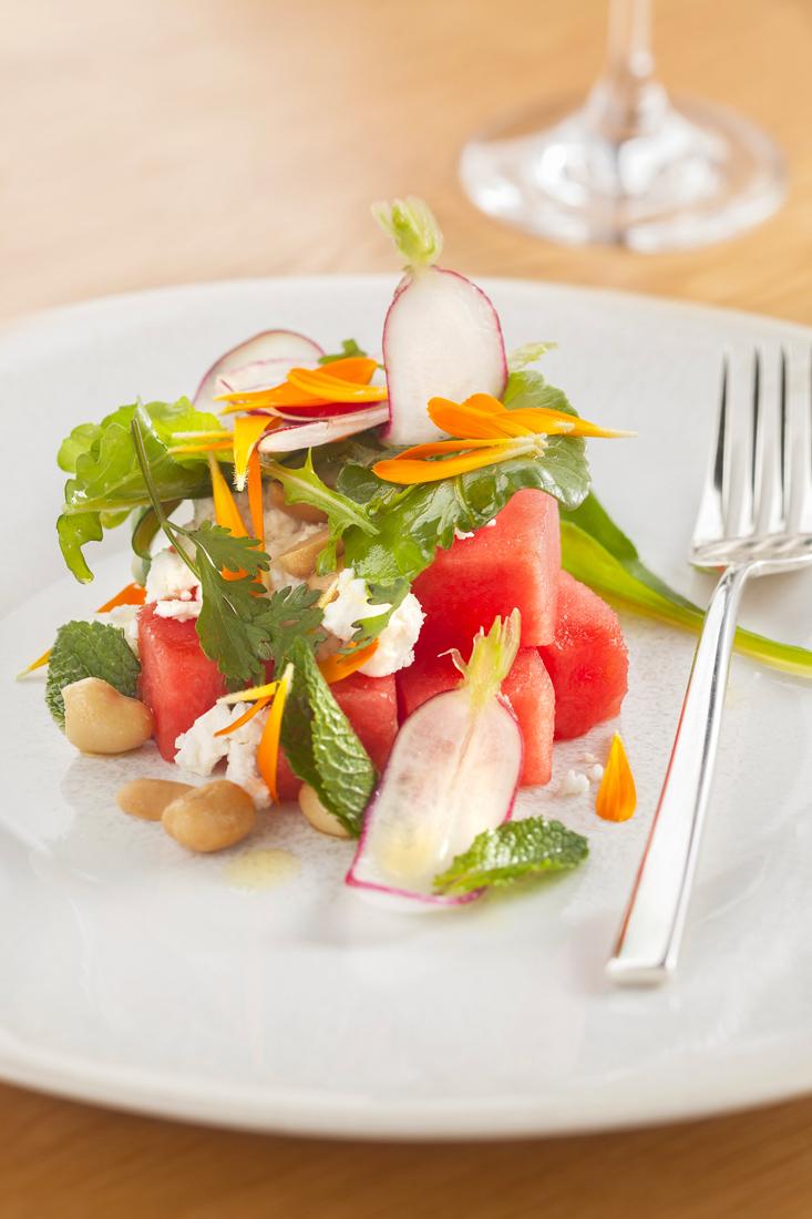 Une salade pour Laurence salade d'herbes, gingembre et citron vert