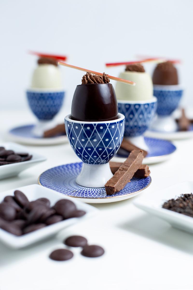 Mousse au chocolat de Madagascar au poivre sauvage et ses mouillettes au praliné croustillant