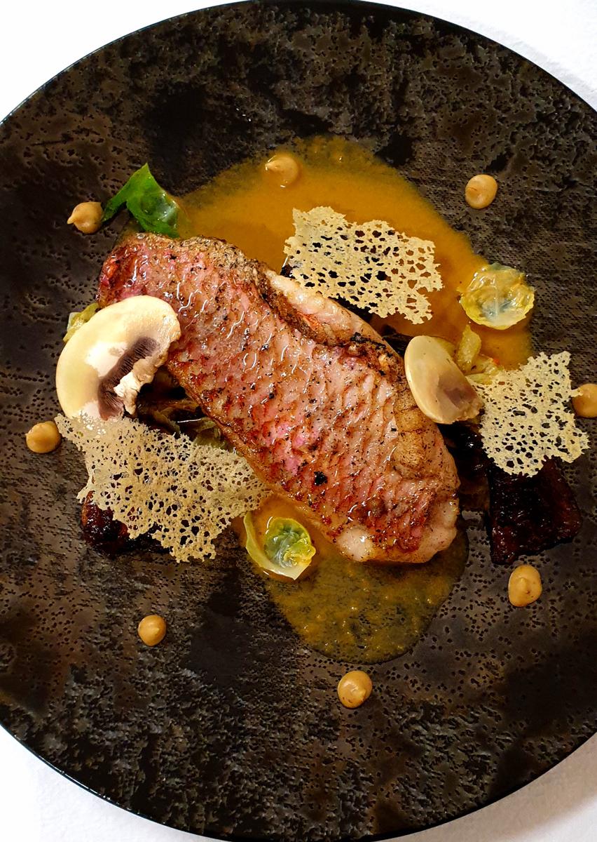 Filet de rouget en bouillabaisse tourangelle
