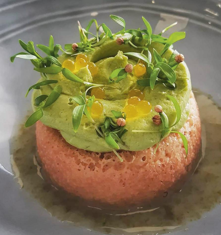Baba Rock'n roll au crémeux  d'avocat et citron caviar - version salée