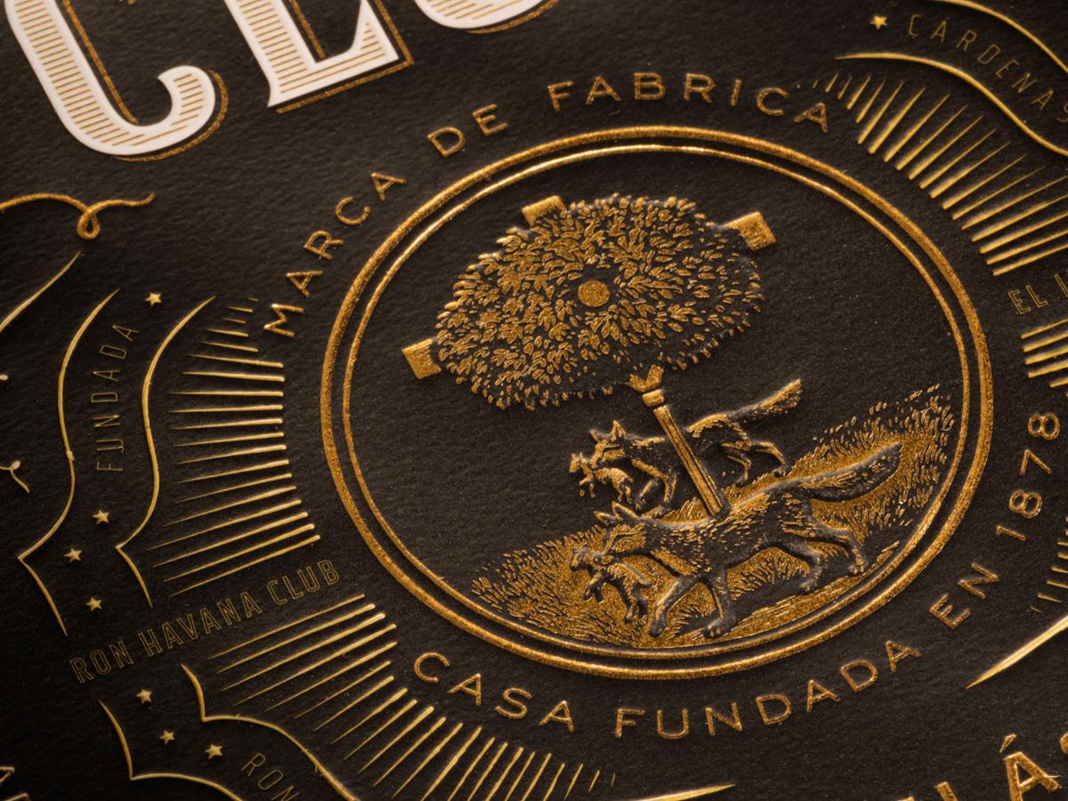 Havana Club Puerto RIcan Rum label detail