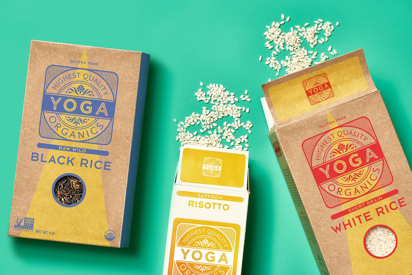 Yoga Rice packaging design