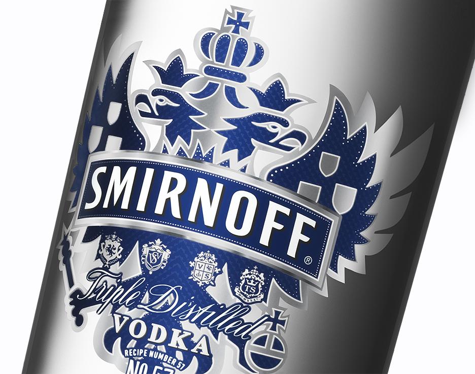 Smirnoff Vodka No. 57 100 proof label design