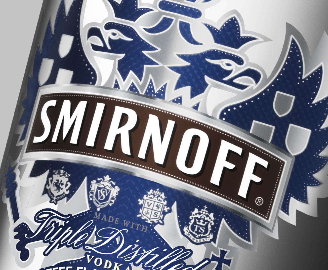 Smirnoff vodka rootbeer flavor label design closeup