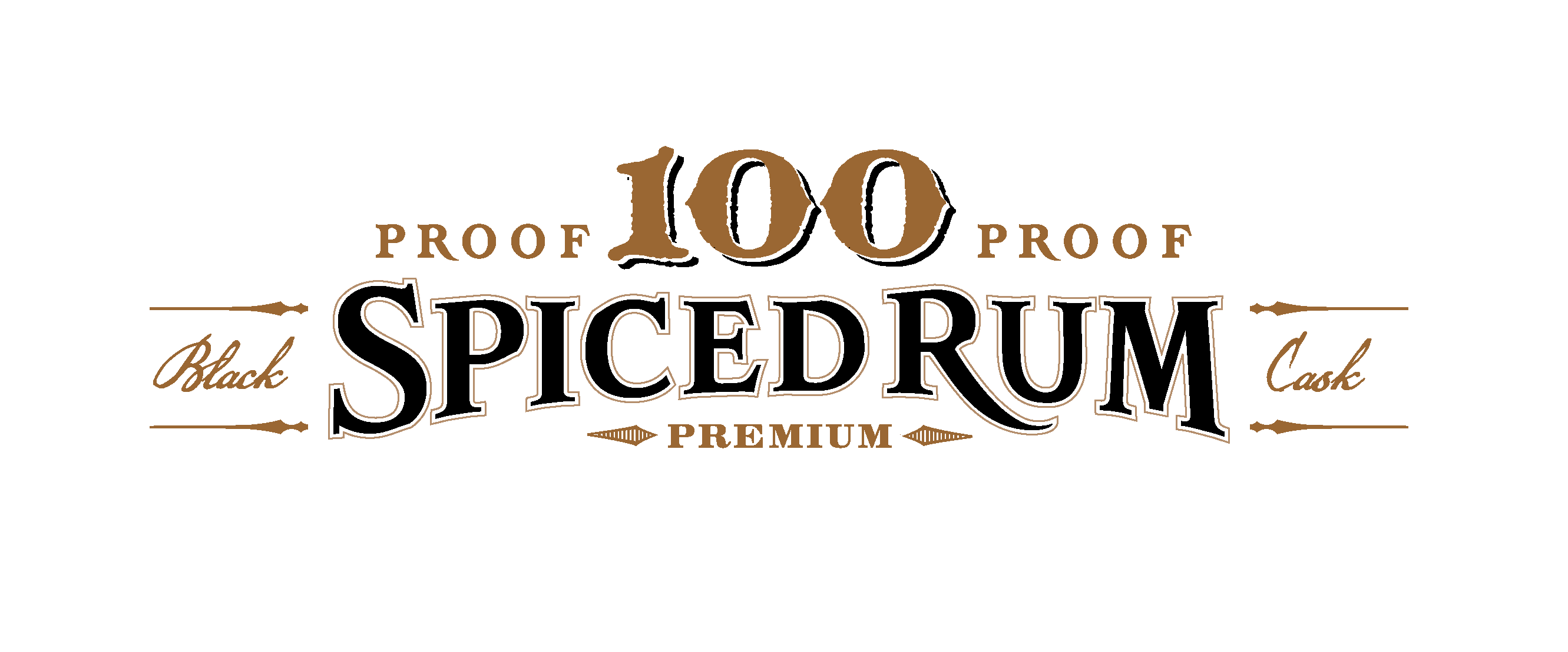 Captain Morgan 100 Proof Spiced Rum typography design