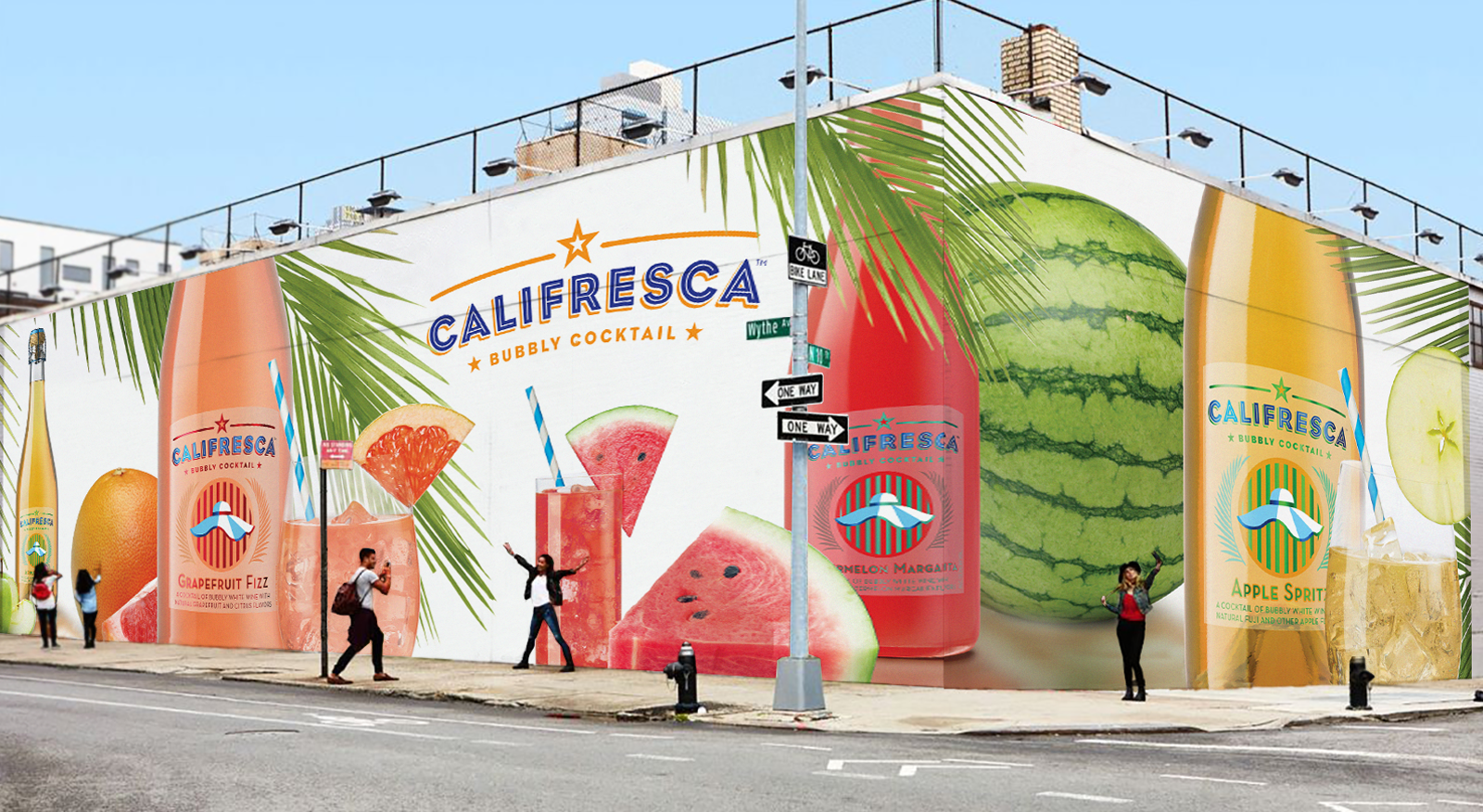 Califresca Bubbly Wine Cocktail advertising out of doors, billboard design